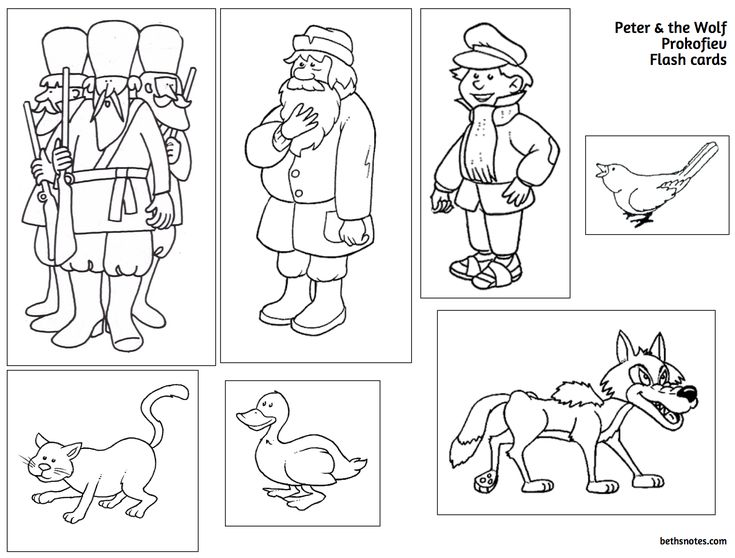 Beth's Music Notes: Peter and the Wolf printable and sound clips.