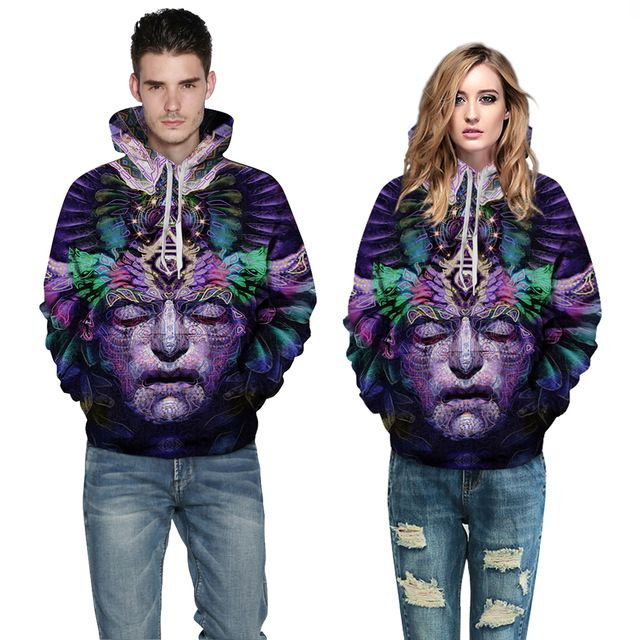 Sunny Collectibles 2015 3D sweatshirts Sculpture printed thick winter harajuku hooded hoodies mr mrs loose spandex chandal mujer