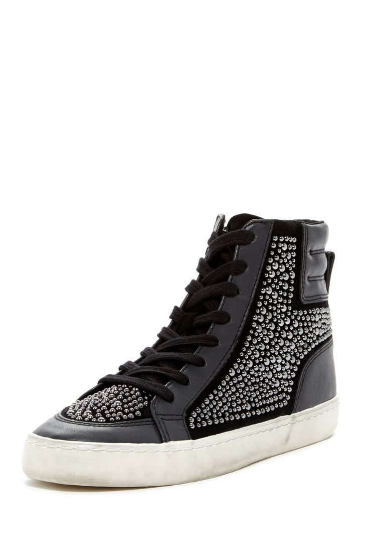 French Connection Louise Studded High-Top Sneaker by Non Specific on