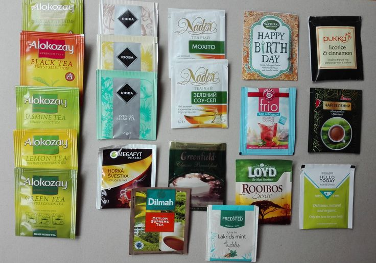 Teabags received from the Ukraine (Big Tea Swap)