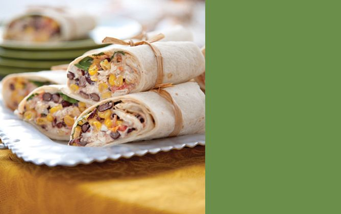 A Make-Ahead Tailgating Menu  Southwest chicken wraps lunch