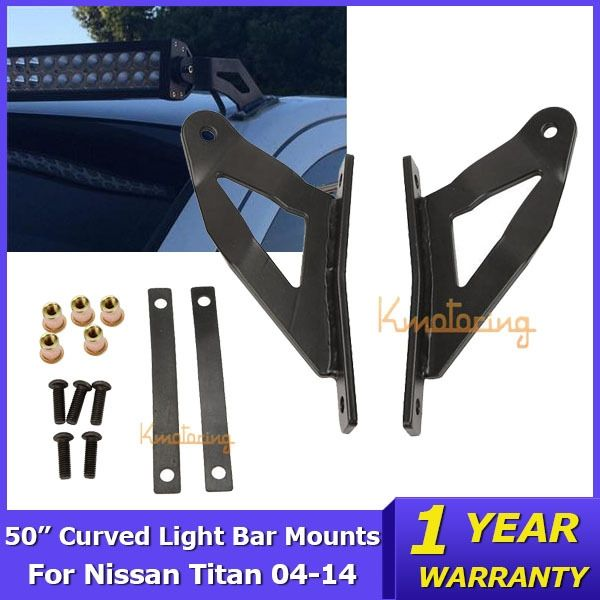 48.85$  Buy here - http://alioby.shopchina.info/go.php?t=32358704934 - Auxmart A pair of Roof Windshield 50 inch Curved Led Light Bar Mount Brackets for Nissan Titan 2004-2014 48.85$ #aliexpressideas