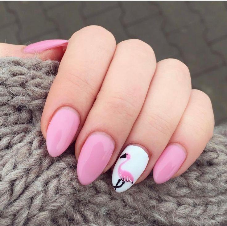 So nice flamingo manicure!!!!!