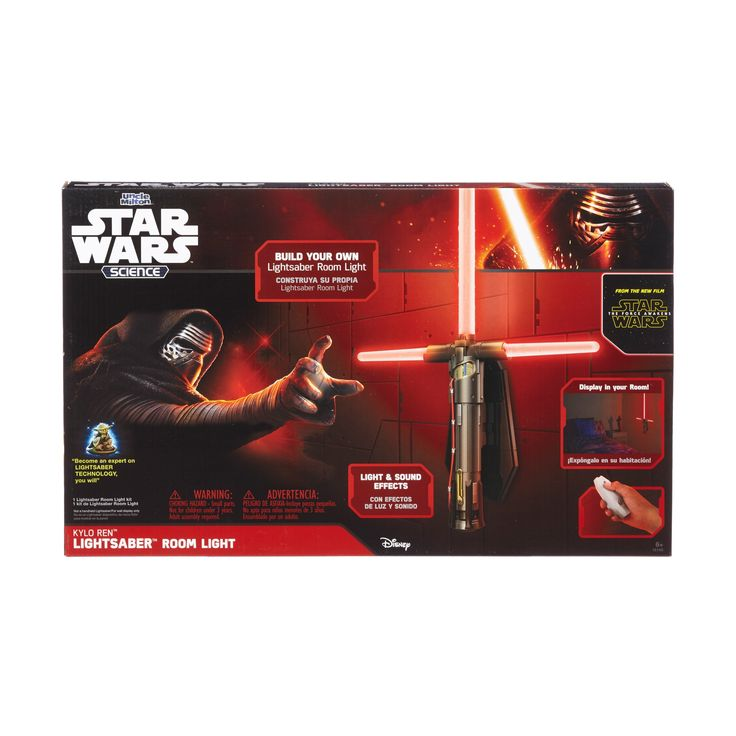 Uncle Milton Star Wars Science - Kylo Ren Lightsaber Room Light