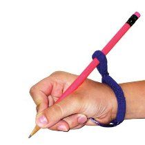 Handwriting wrist sling:  HandiWriter Handwriting Tool-need to ask Jamie about this.