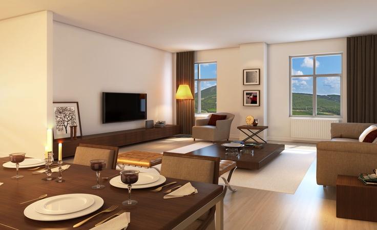 NarLife 2+1 dairelerinden salondan bir görüntü
