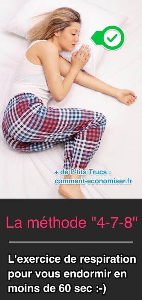 """Il existe un truc magique pour vous endormir en moins de 60 secondes. L'astuce est de faire un exercice de respiration appelé """"4-7-8"""". Regardez : Découvrez l'astuce ici : http://www.comment-economiser.fr/methode-miracle-pour-s-endormir-en-60-sec.html?utm_content=buffer80c6d&utm_medium=social&utm_source=pinterest.com&utm_campaign=buffer"""