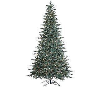9' Prelit Frosted Crystal Balsam Tree by Valerie