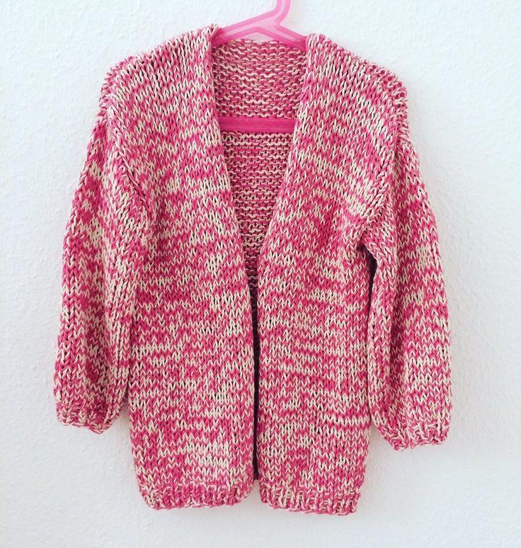 Strickjacke Mädchen Anleitung #BernadetteCardigan Sommer #WeareKnitters