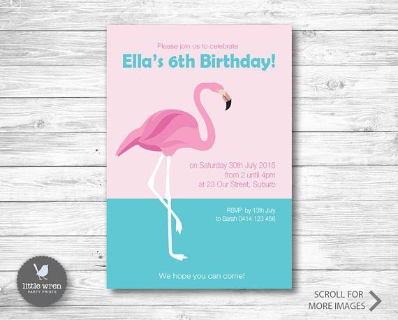 Flamingo Party Invitation flamingo Birthday Ideas invite