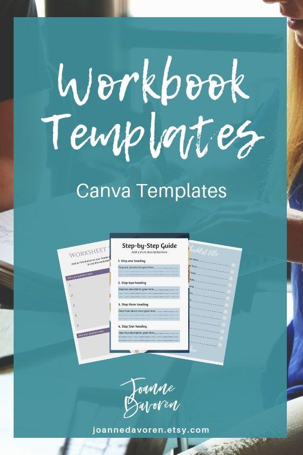 Workbook Templates for Canva   template design, digital
