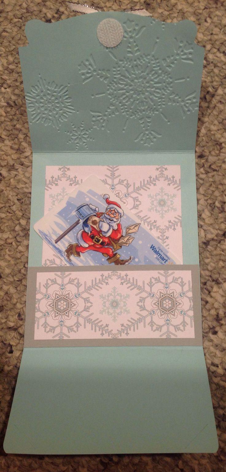 Inside gift card holder