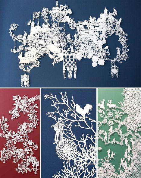 paper-nature-emma-van-leest / beautiful paper cut