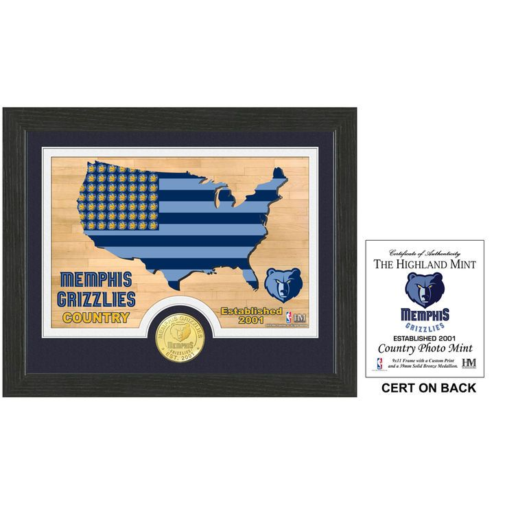 Memphis Grizzlies Highland Mint Country Photomint - $29.99