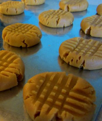Peanut butter cookies made with WOWBUTTER