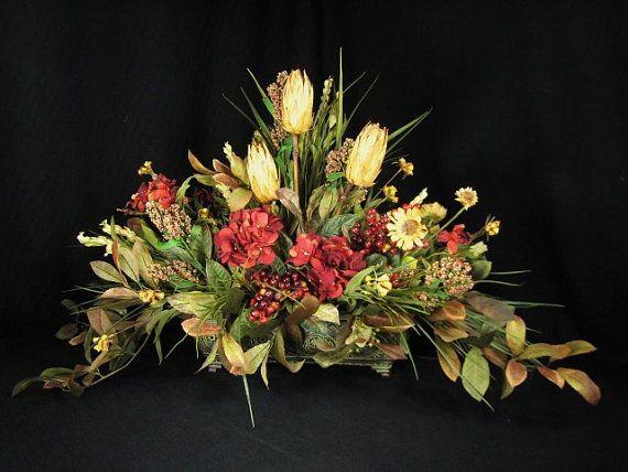 Extra Large Tuscan Dining Centerpiece Silk Flower