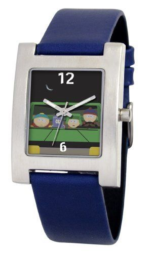 South Park Men's D1528S094 Kuban Collection Towelie Blue Leather Watch South Park. $16.82. Durable mineral crystal. Precise Japanese-quartz movement. Water-resistant to 99 feet (30 M). Genuine leather strap with buckle. White dial with South Park artwork. Save 58% Off!
