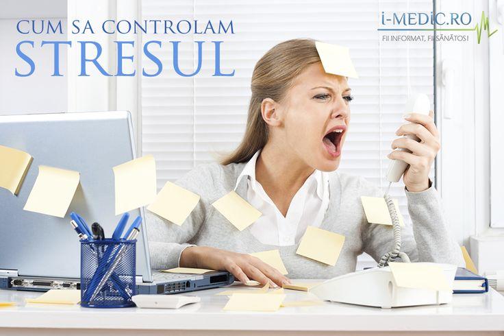 In primul rand, pentru a putea controla stresul, trebuie sa il recunoastem.  Simptomele stresului includ manifestari mentale, sociale si fizice. Acestea implica extenuarea, cresterea/diminuarea apetitului, migrene, plans, insomnii sau prea mult somn -  http://www.i-medic.ro/sanatate-feminina/sfaturi-utile/sa-invatam-sa-controlam-stresul