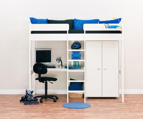 Marvelous Eine moderne Jugendzimmer Einrichtung werden Sie mit einem Design Hochbett aber auch mit den passenden Farben erreichen Hochwertiges Holz und bunte Stoffe