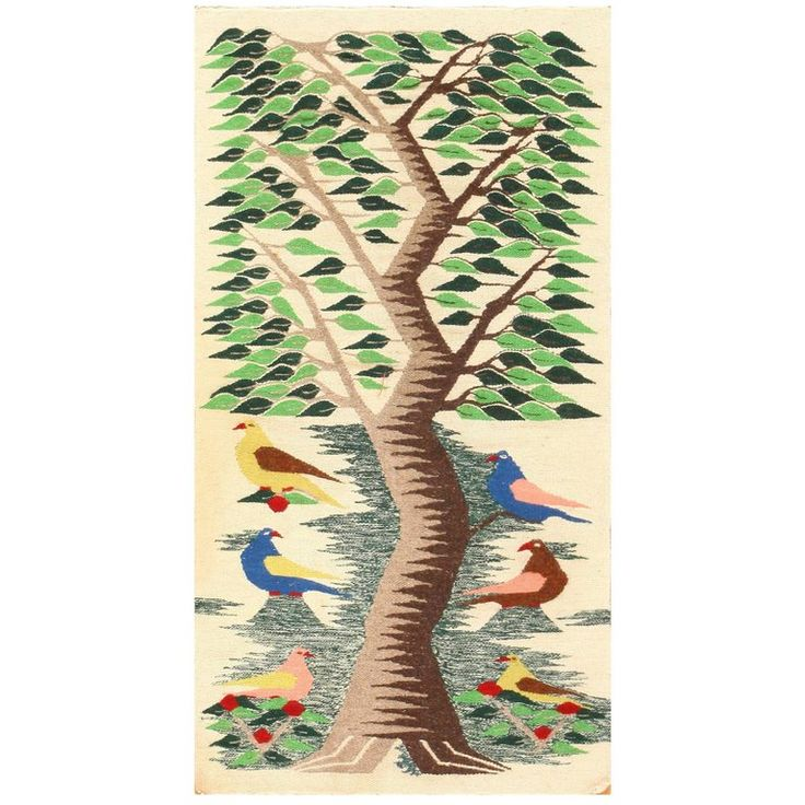 Vintage Swedish Scandinavian Tapestry Textile Art | From a unique collection of antique and modern russian and scandinavian rugs at https://www.1stdibs.com/furniture/rugs-carpets/russian-scandinavian-rugs/