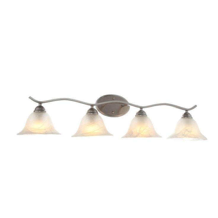 Hampton Bay Andenne 4-Light Brushed Nickel Bath Vanity Light-705207 - The Home Depot