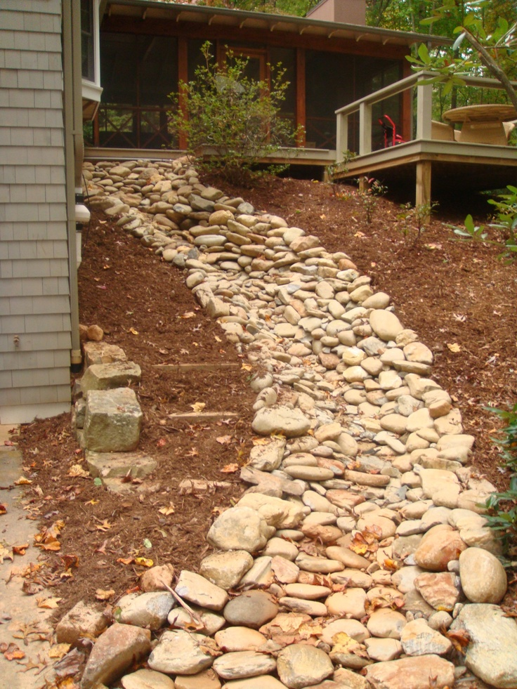 71 best dry river beds or water features images on pinterest for Landscape drainage