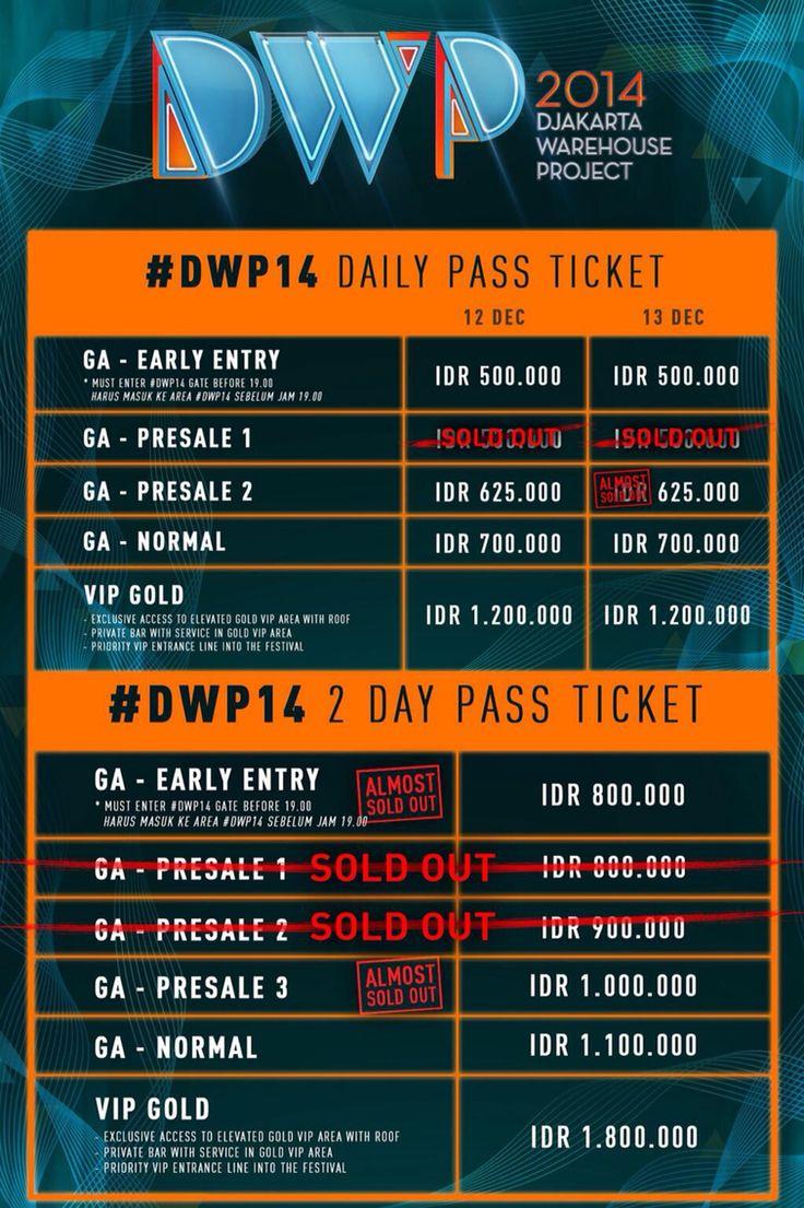 #dwp14 info tickets !!