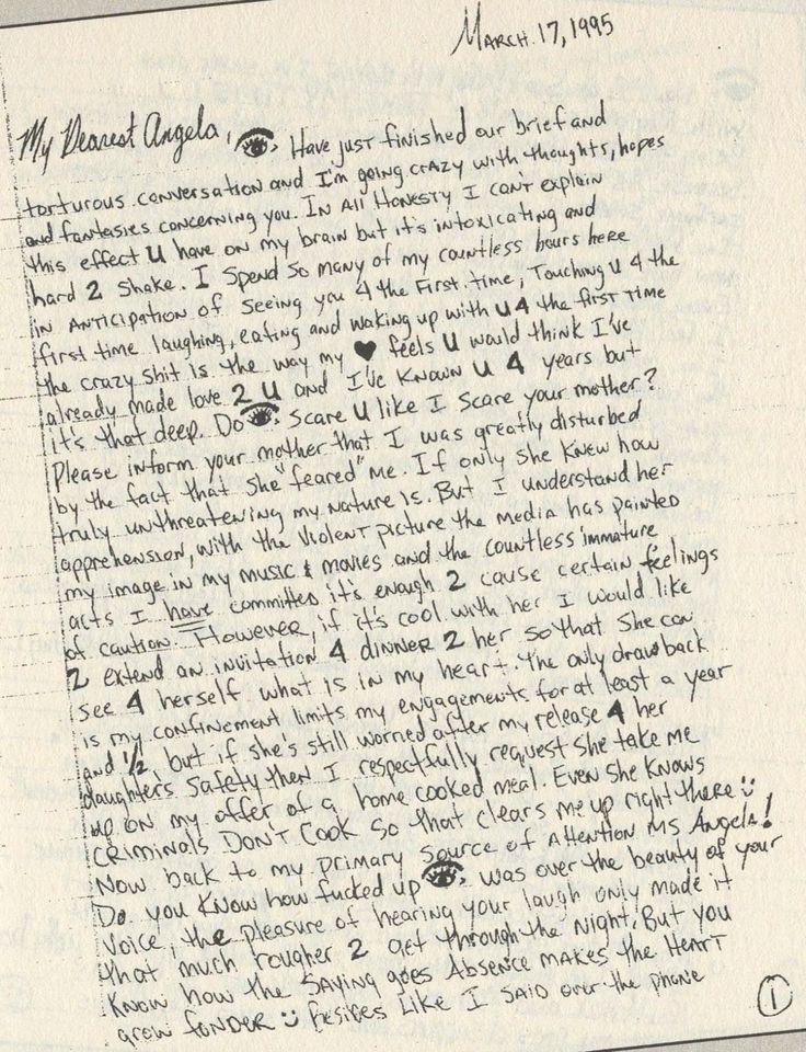 "makaveliimmortalized "" A personal handwritten letter"