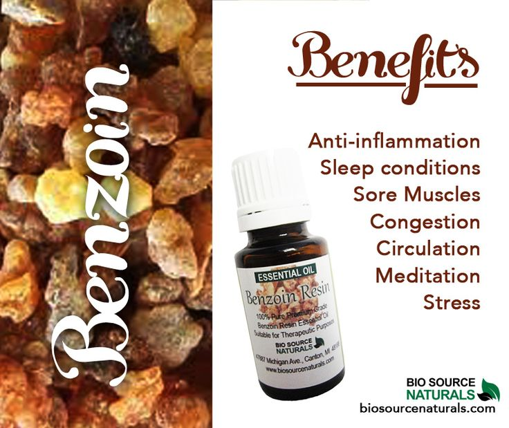 Benzoin essential oil helps relieve breathing issues, stress, and aids with meditation. Benzoin makes a wonderful base in natural perfumery.  Shop affordable and therapeutic essential oils and blends with BioSource Naturals! #aromatherapy.