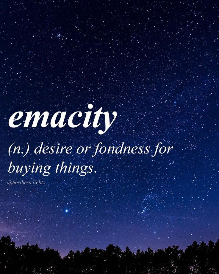 "English with Latin origin. It comes from the Latin word "" emacitas""and means the desire to buy. Emacity"