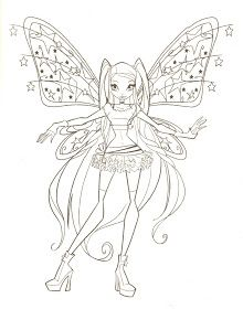 FAIRY COLORING PAGES: WINX CLUB FAIRY COLORING PICTURES