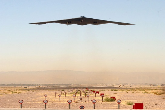 Nevada - Area 51 (Landov). B-2 Spirit Stealth Bomber - responsible for many UFO reports during it's development.