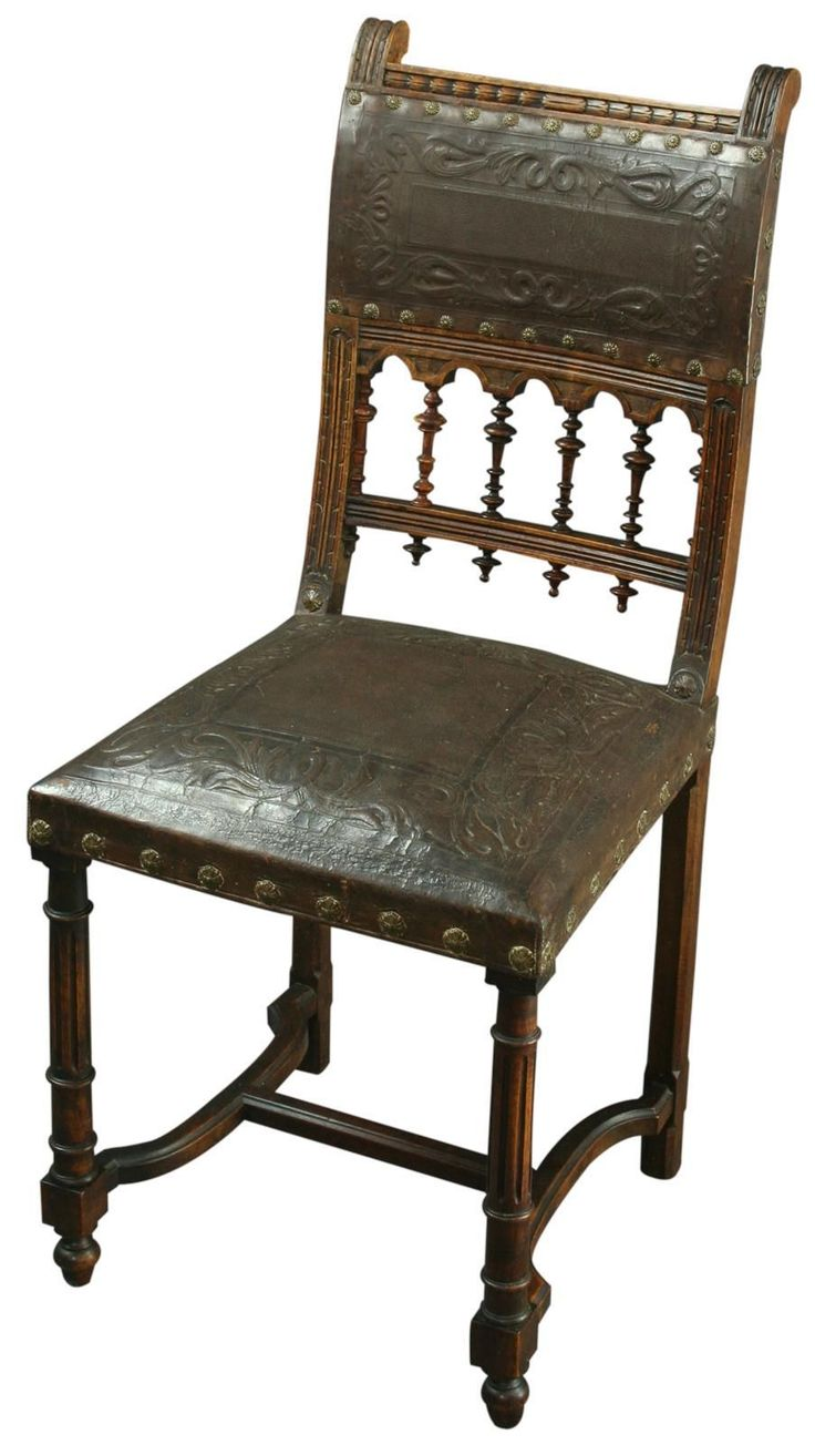 Antique Walnut French Renaissance Henry Ii Dining Chair