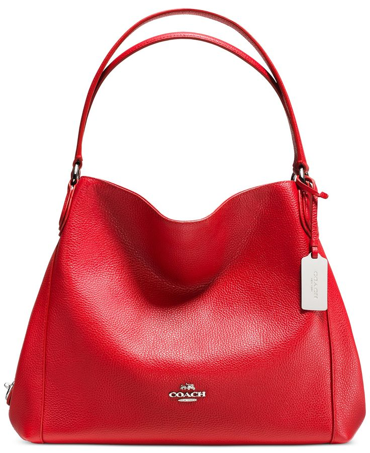 COACH EDIE SHOULDER BAG 31 IN REFINED PEBBLE LEATHER - Handbags & Accessories - Macy's