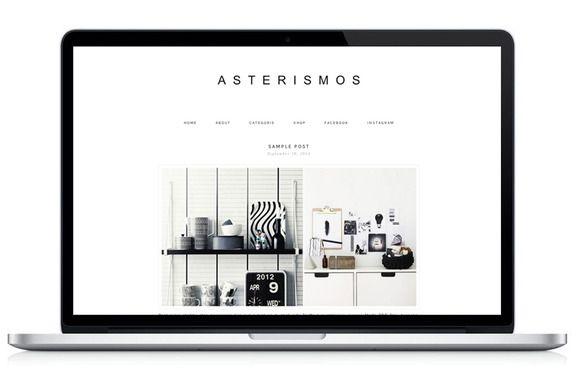 Check out Responsive WP Theme - Asterismos by Light Morango on Creative Market
