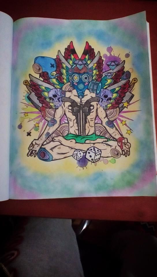 Tattoo Coloring Book 3 183 Best What I Colored Images On Colour And