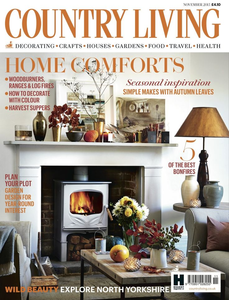 Country Living Magazine November 2015 Cover Countryliving Co Uk