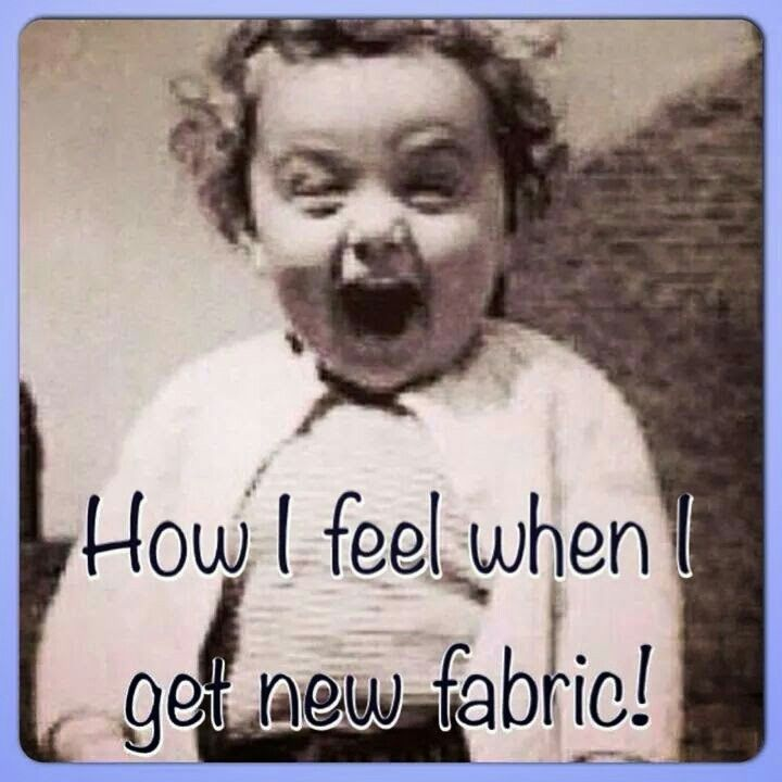 It's great when you find that perfect fabric!