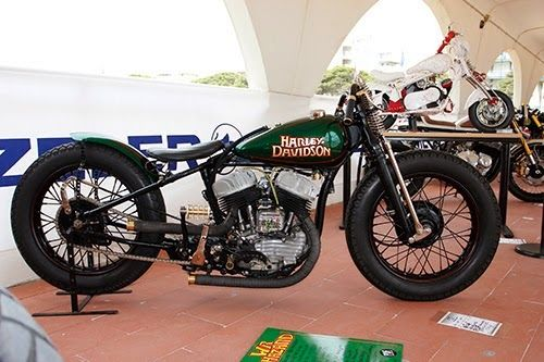"The WR Hazard"", is based on a Harley-Davidson WLA frame and engine, with many hand-made parts."