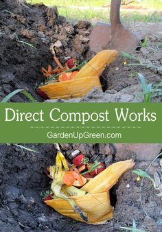 Tired of dealing with a traditional Compost bin?  Get back to basics and give Direct Compost a Try.  It's easy and works fast!