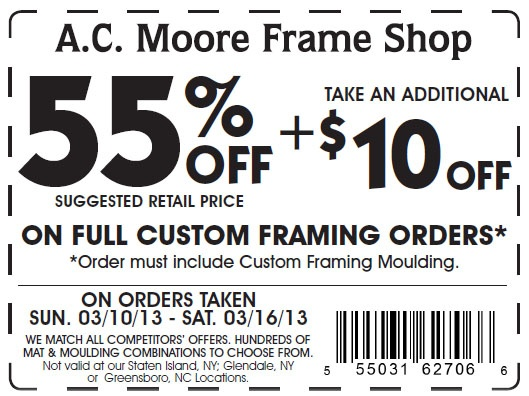 Ac moore coupon january 2018