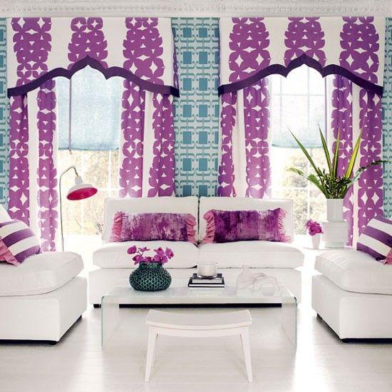 Bold Jewel Tone Living Room