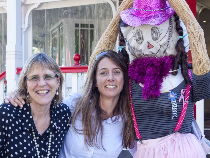 Our scarecrow was awarded a 'fabulous' ribbon - 2015