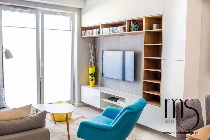 Zdjęcia z realizacji mieszkania w stylu skandynawskim: styl , w kategorii Salon zaprojektowany przez subdadesign