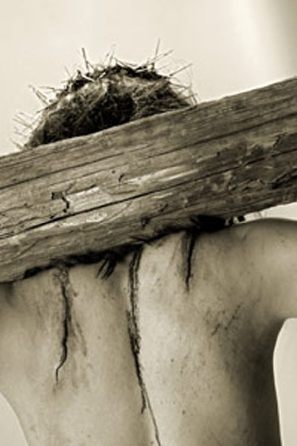 """Jesus carried the patibulum that weighed 110 lbs on his way to the cross """"Via Dolorosa"""""""