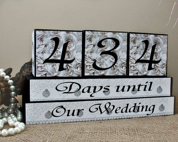 Wedding Countdown Blocks  Personalized Days by TimelessNotion