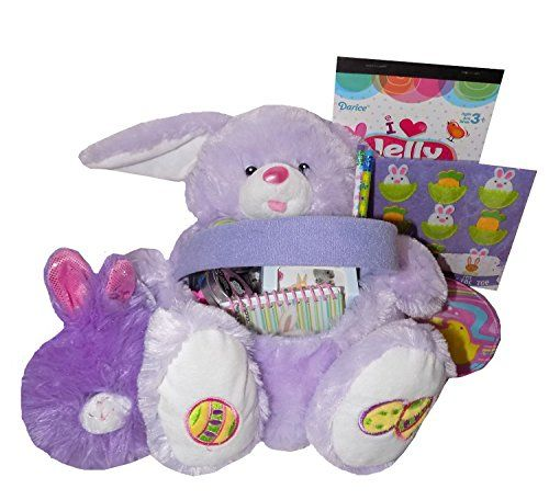 45 best best easter basket gifts ever images on pinterest purple bunny plush gift easter basket with plush bunny https negle Gallery