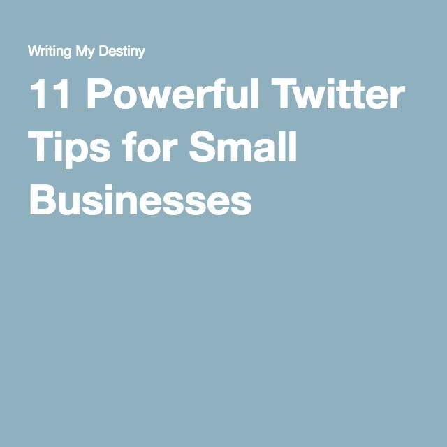 Here are 11 great tips on how to use Twitter as a small business!