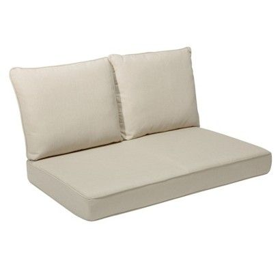 Rolston 3 Piece Outdoor Replacement Loveseat Cushion Set Wicker Patio Furniture Furniture And