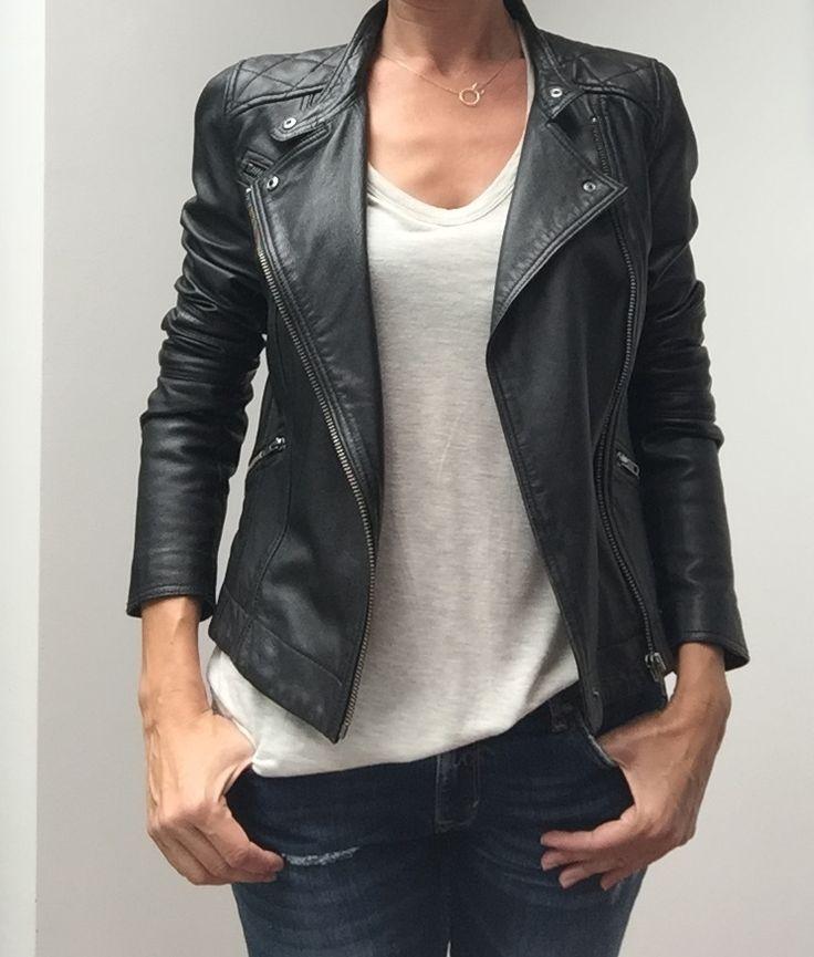 Voir cette épingle et d\u0027autres images dans Mode femme. Look avec veste en  cuir